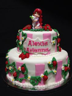 Strawberry shortcake cake made by Brenda's cake designs