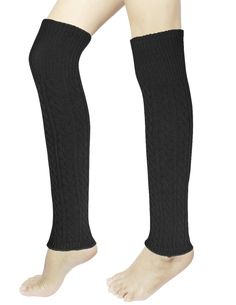 Dahlia Women's Long Cable Leg Warmers - Narrow Cable - Black. Dimension: 19 L x 3.25 W inches un-stretched. Usage: Stylish and functional to wear with boots, booties, over stockings; under work attire or as sports usage for joggers or gymnasts. Easy Care: Machine-washable, extremely color-fast and very resistant to deterioration from sunlight exposure. Available in 5 colors: Black, Gray, Coffee, Purple and Khaki. Risk-Free Shopping: quality assurance in addition to a no-question-asked…