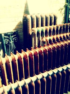 Old rusty radiators
