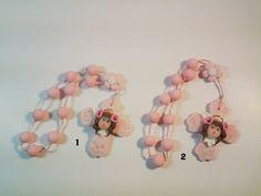 8.5 Rosary angel face 8.5 Prayer beads angel by CreacionesDeElena
