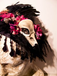 Ragged Fake Crow Skull and Wings by ProfessorMaelstromme on Etsy
