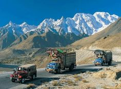 Most people ask why the Karakorum highway is known as the wonder of the world? So we are going to list the features of the KKH. Beautiful Roads, Beautiful World, Beautiful Places, Blue Ridge Parkway, Great Smoky Mountains, Tibet, Karakorum Highway, Places Around The World, Around The Worlds