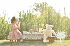 Haylee's tea party photoshoot with Peppa turned out soooo cute! Tea Party Photography, Toddler Photography, Tea Party Pictures, Party Photos, Little Girl Photos, Baby Girl Photos, Book Infantil, 2nd Birthday Photos, Toddler Photos