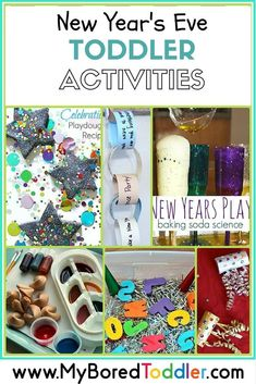New Year's Eve Activities for Toddlers - My Bored Toddler - Over 15 fun New year's eve activities for toddlers. If you are looking for toddler activities this New years eve you can't go past this great collection from My Bored Toddler www. New Year's Eve Activities, Craft Activities For Kids, Christmas Activities, Toddler Activities, Winter Activities, Sensory Kids, Preschool Winter, Craft Ideas, Preschool Themes