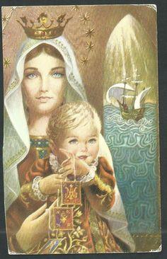 Estampa antigua de la Virgen del Carmen andachtsbild santino holy card santini   eBay