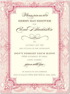 Derby Bridal Shower invite!