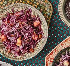 Red cabbage, bacon & apple salad #glutenfree #grainfree #ArtofEatingWell