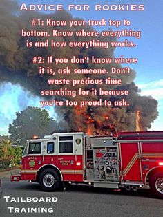 Two pieces of advice for rookies. #firefighter pic.twitter.com/fGNXbkQcoK