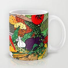Vegetable market Mug by Bozena Wojtaszek  - $15.00
