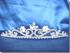 http://amzn.to/HuLFij       #Flower Girl Tiara Comb With Crystal Flowers and Leaves #C5235       False Advertising!  Not sized for a flower girl!