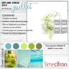 Ed(wige) Scrap Power: Défi Juillet 2019 Lime Citron Lime Citron, Photos, Layout, Map, Blog, Sketches, Ideas, September 16, Japanese Culture