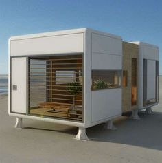 Portable Prefab Pod Home: Compact, Minimal & Modern Tiny House Cabin, Tiny House Living, Tiny House Design, Modern House Design, Prefab Homes, Modular Homes, Tiny Homes, Bungalows, Casas Containers
