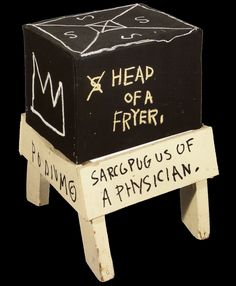 head of a fryer - Jean-Michel Basquiat