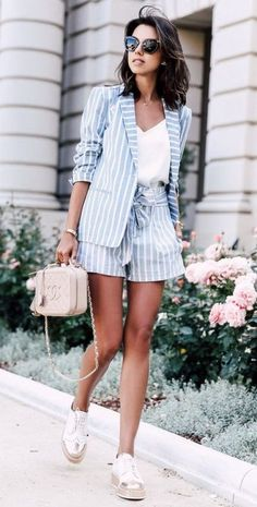 The biggest spring 2020 street style trends what to wear this spring 2020 best spring outfits 2020 Womens Fashion Casual Summer, Summer Outfits Women, Womens Fashion For Work, Look Fashion, Spring Outfits, Spring Shorts, Spring Fashion, Fashion Ideas, Summer Formal Outfits