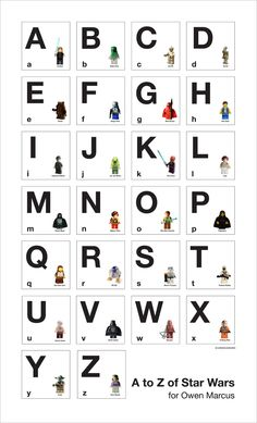 A to Z of Star Wars - Alphabet Poster. $30.00, via Etsy.