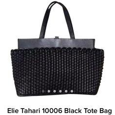 Elie Tahari Black Leather Tote Elie Tahari Black Leather Tote Elie Tahari Bags Totes