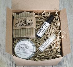 c07ef637d364 Organic Lavender Chamomile Spa Relaxation Gift Box Christmas Gift Baskets