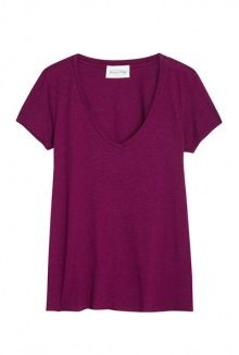 American Vintage plum v neck short sleeve t-shirt
