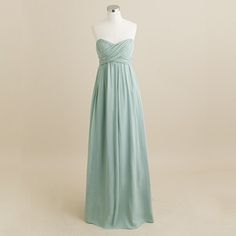 long bridesmaid dress. #jcrew