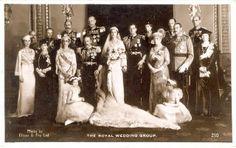 Hochzeitsfoto Herzog und Herzogin von Kent, Wedding photo Duke and Duchess of Kent