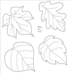 Nice templates for leaves! Mollie makes, Felt Leaf Template--cut out of craft foam to make stamp or embossing plate. Felt Patterns, Applique Patterns, Craft Patterns, Paper Flower Patterns, Pattern Ideas, Felt Flowers, Paper Flowers, Paper Butterflies, Craft Flowers