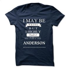 I LOVE ANDERSON TSHIRT - tshirt design #fashion #clothing