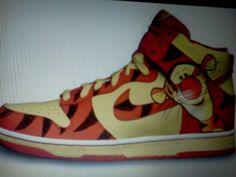 Tiger nike high tops!