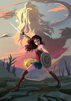 Wonder Woman by the amazingly talented Melissa Manwill! Wonder Woman Art, Wonder Woman Comic, Ms Marvel, Marvel Dc Comics, Comic Books Art, Comic Art, Comic Superman, Super Heroine, Dc Super Hero Girls