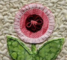 Brazilian Embroidered Applique Garden by Mona Levingston.  2013 Trinity Valley quilt show.  Photo by Cookie's Creek
