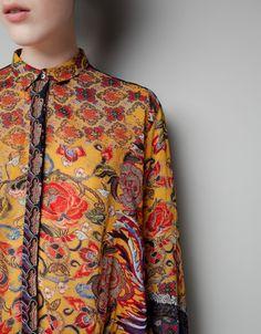 ORIENTAL-PRINT CHIFFON BLOUSE - Shirts - Woman - New collection - ZARA Taiwan