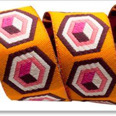 Hex Box in Orange (Tula Pink - Tula Pink Ribbons)