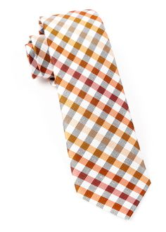 GIBSON CHECK - Orange | Ties, Bow Ties, and Pocket Squares | The Tie Bar