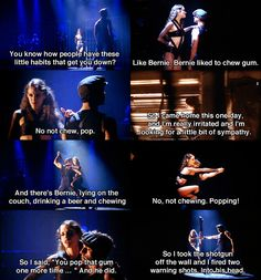 """""""So I took the shotgun off the wall and I fired two warning shots. Into. His. Head."""" #chicago #cell block tango"""