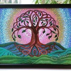 #dotart #dotilism #dotpainting #dots #acrylicpainting #treeoflife #art_whisper #pink #yellow #blue #green #etsy #etsyshop #etsyseller #lusanta