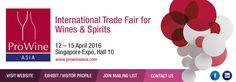 #ProWine_Asia #Tradeshow for #Food #Beverages #Wine #Viniculture http://tradeshows.bizbilla.com/ProWine-Asia_detailed12863.html