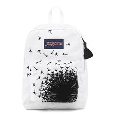 JanSport High Stakes Backpack - Black/White Wish / 16.7   - Click image twice for more info - See a larger selection of school backpacks at http://kidsbackpackstore.com/product-category/school-backpacks/ - kids, kids backpack, school backpack, everyday backpack, school bag, gift ideas, teens backpacks.