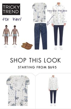 """""""Daytime Pajamas"""" by chrisamar ❤ liked on Polyvore featuring Alexander McQueen, Levi's, men's fashion, menswear and TrickyTrend"""