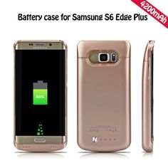 YOTEEN Extended 4200mAh Power Case For Samsung Galaxy S6 S6 edge Battery Case for Samsung S6 edge Plus Powerbank Charge Cover