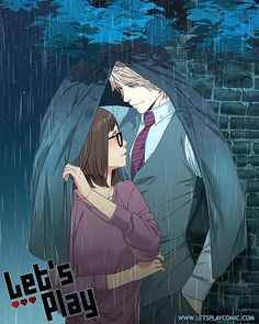 Gift art for for being my administrator on Discord. She requested a cute SamxCharles picture of the two getting caught in the rain. Otaku, Lets Play A Game, Webtoon Comics, Free Comics, Manga Comics, Anime Couples, Manga Anime, Anime Boys, Anime Art