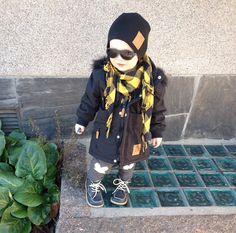 Bundle up in style with our classic black Babiators #babiatorsnation