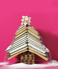 Festive decorating with books
