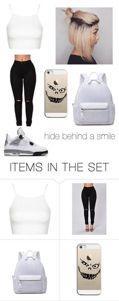 """""""hurts to smile  pain still lurks alone is the feeling feelings show none #haventPostinAwhile ##haventHadLuck"""" by lala-slim ❤ liked on Polyvore featuring art"""