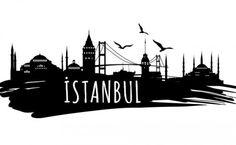 istanbul silüet - Google'da Ara Visit Istanbul, Istanbul City, Istanbul Turkey, Sea Logo, City Drawing, Wall Drawing, Skyline Silhouette, Bild Tattoos, Scrappy Quilts