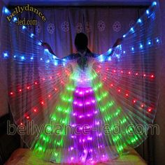 We just made this LED isis wings with 4 colors on it!