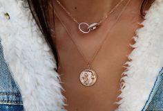 14kt gold and diamond starburst link necklace – Luna Skye