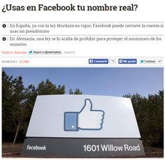 ¿Usas en Facebook tu nombre real? / @diarioturing | #readyfordigitalprivacy