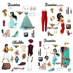 Aladdin et Jasmine Disney Character Outfits, Cute Disney Outfits, Disney Themed Outfits, Disney Bound Outfits, Couple Outfits, Disney Inspired Makeup, Disney Inspired Fashion, Princess Inspired Outfits, Disney Princess Dresses