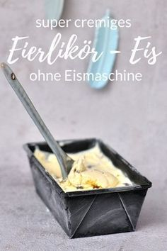 without ice cream machine: egg liqueur rice on Smilla& feeling of wellbeing- ohne Eismaschine: Eierliköreis auf Smillas Wohngefühl Eggnog ice cream without any ice cream maker or constant stirring! Creamy and super tasty. Eggnog Ice Cream, Make Ice Cream, Ice Cream Maker, Homemade Ice Cream, Easter Recipes, Baby Food Recipes, Snack Recipes, Dessert Recipes, Homemade Baby Foods