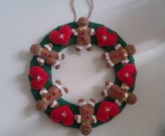 Christmas Decoration Felt Wreath