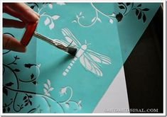 must try this resist - just rubber cement over stencil on watercolor paper. Let dry, then watercolor over the top. let dry. rub off cement. You can even add detail to the white area.